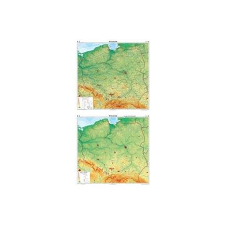 Polska. Mapa ogólnogeograficzna/mapa do ćwiczeń
