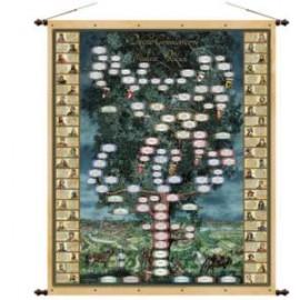 Drzewo Genealogiczne Władców Polskich 97 x 130 cm