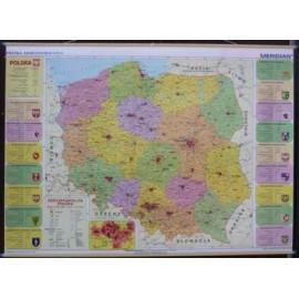 Mapa administracyjna Polski  210 cm x 150 cm