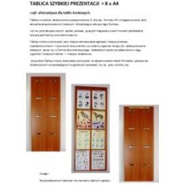 Tablica szybkiej prezentacji  8 x A4