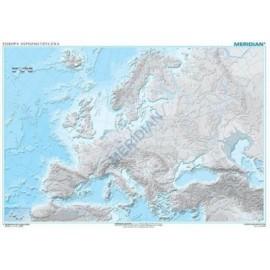Mapa hipsometryczna Europy - ćwiczeniowa