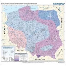 Mapa Polski z podziałem na strefy obciążenia śnieg