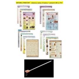HISTORIA LITERATURY - rabatowy zestaw 14 plansz
