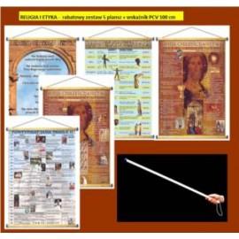 RELIGIA I ETYKA -  rabatowy zestaw 5 plansz +wskaź