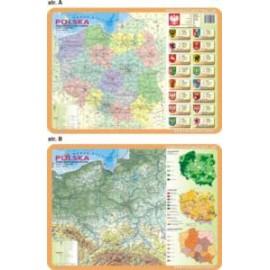 Mapy Polski i Świata 062 - podkładka 40x30 cm