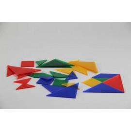 Tangram dla ucznia w 4 kolorach transparentnych