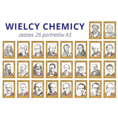 Wielcy chemicy - zestaw 26 portretów A3