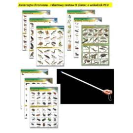 Zwierzęta chronione - rabatowy zestaw 9 plansz + w