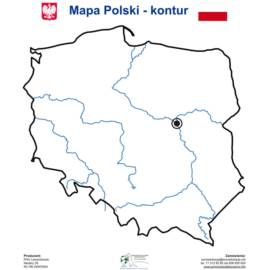Nakładka magnetyczna MAPA POLSKI KONTUR