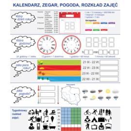 Nakładka magnetyczna KALENDARZ ZEGAR + karty pracy
