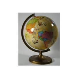 Globus 220 z trasami odkrywców w stylu retro