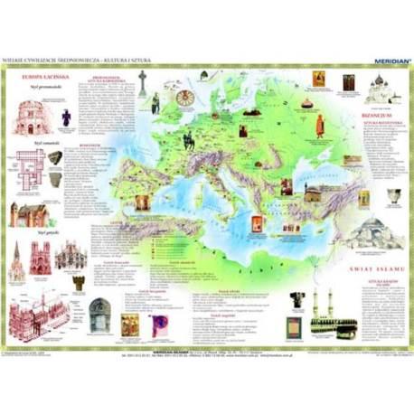 Wielkie cywilizacje średniowiecza - kultura i sztu