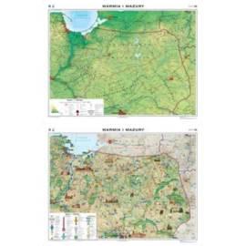 Warmia i Mazury. Mapa regionalna ogólnogeograficzn