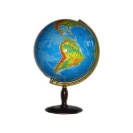 Globus 420 mm Fizyczny Drewniana Podstawa
