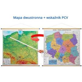 Duo MAPA FIZYCZNA / ADMINISTRACYJNA POLSKI ze WSKA