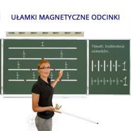 Ułamki - odcinki tablicowe magnetyczne + wskaźnik
