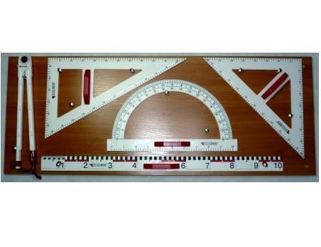 Przybory PCV magnetyczne na tablicy + 2 wskaźniki