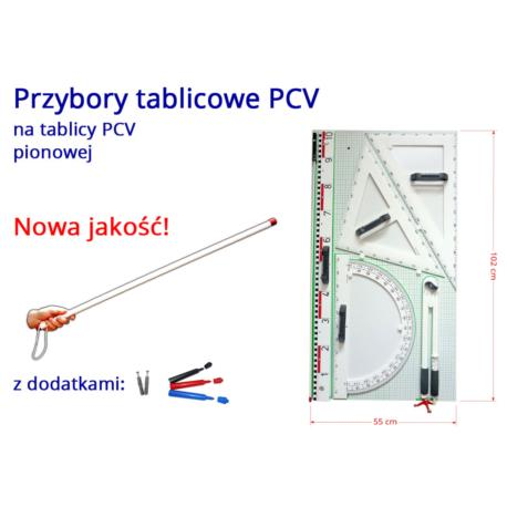 Przybory PCV magnetyczne na tablicy PCV białej