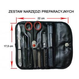 Zestaw narzędzi preparacyjnych z etui