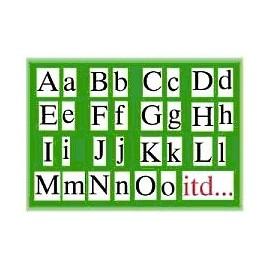 Alfabet drukowany ruchomy na rzep