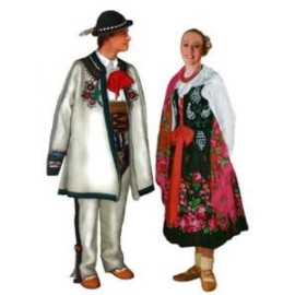 Polskie stroje ludowe - komplet 10 plansz