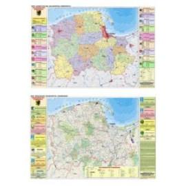 DUO Pomorskie mapa fizyczna / ekologiczna
