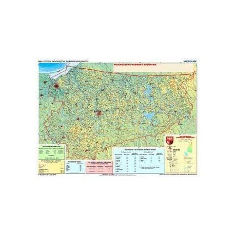 Warmińsko-mazurskie - mapa fizyczna