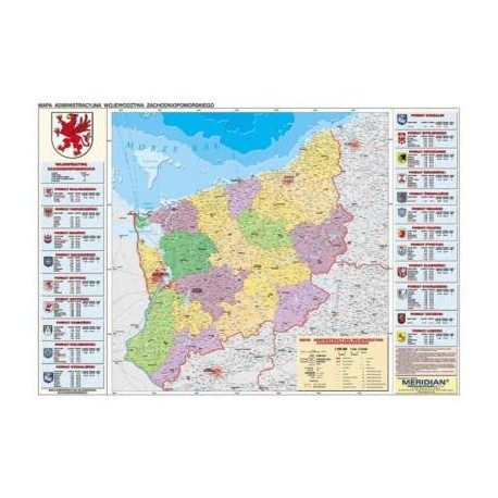 Zachodniopomorskie - mapa administracyjna