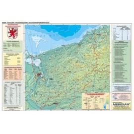Zachodniopomorskie - mapa fizyczna