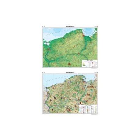 Pomorze. Mapa regionalna ogólnogeograficzna/krajob