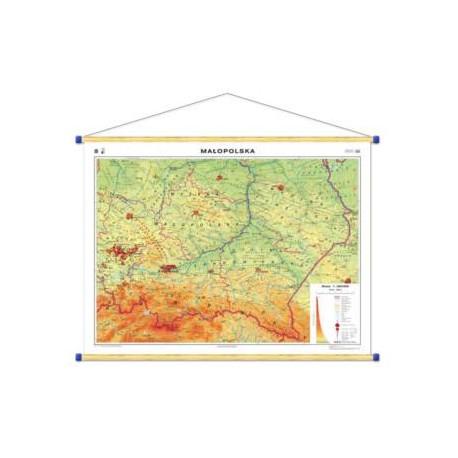 Małopolska. Mapa regionalna ogólnogeograficzna/kra