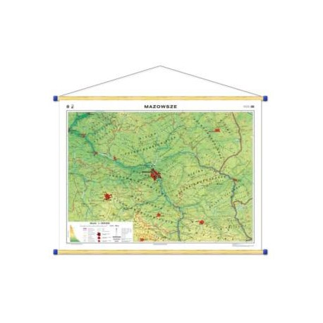 Mazowsze. Mapa regionalna ogólnogeograficzna/krajo