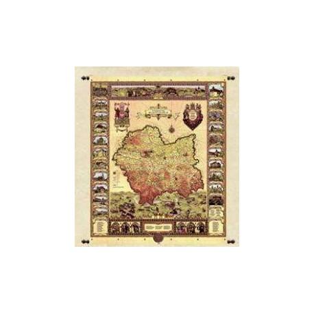 Mapa Województwa Małopolskiego 135 x 165 cm