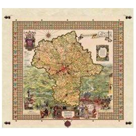 Mapa Województwa Mazowieckiego  135 x 175 cm