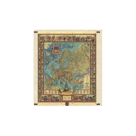 Mapa europy 68,5 x 86 cm