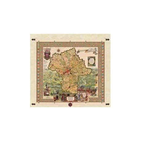 Mapa Województwa Mazowieckiego  97 x 92 cm
