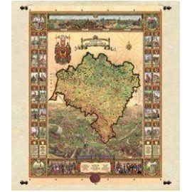 Mapa Województwa Dolnośląskiego 97 x 116 cm