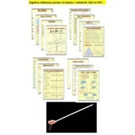 Algebra-rabatowy zestaw 14 plansz + wskażnik PCV