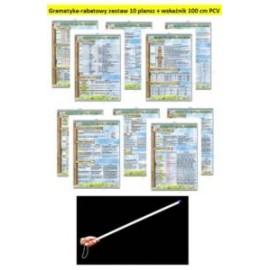 Gramatyka-rabatowy zestaw 10 plansz + wskaźnik PCV