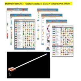 BIOLOGIA OGÓLNA - rabatowy zestaw 7 plansz + wskaź