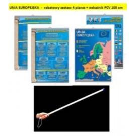 UNIA EUROPEJSKA - rabatowy zestaw 4 plansz + wskaź
