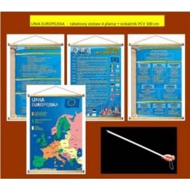 UNIA EUROPEJSKA  - rabatowy zestaw 4 plansz + wsk