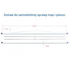 ZESTAW DO SAMODZIELNEJ OPRAWY PLANSZ / MAP 106 cm