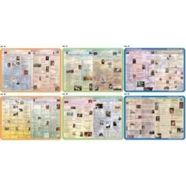 Historia literatury - zestaw 3 podkładek 40x30 cm