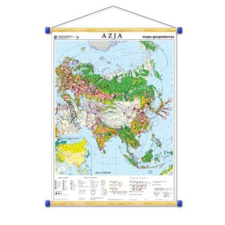 Azja. Mapa gospodarcza