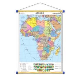 Afryka. Mapa polityczna/konturowa