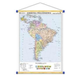 Ameryka Południowa. Mapa polityczna/konturowa