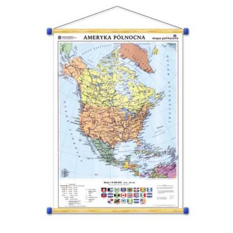 Ameryka Północna. Mapa polityczna/konturowa