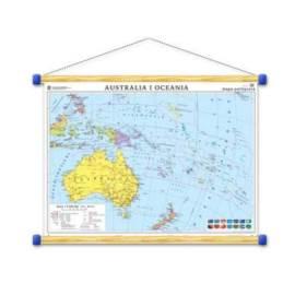 Australia. Mapa polityczna/konturowa