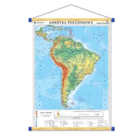 Ameryka Południowa. Mapa ogólnogeograficzna/mapa d